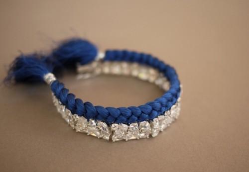 Bright DIY Braided Rhinestone Bracelet