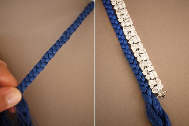 Picture Of Bright DIY Braided Rhinestone Bracelet 5