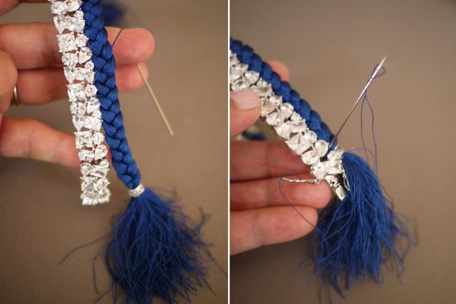 Picture Of Bright DIY Braided Rhinestone Bracelet 8