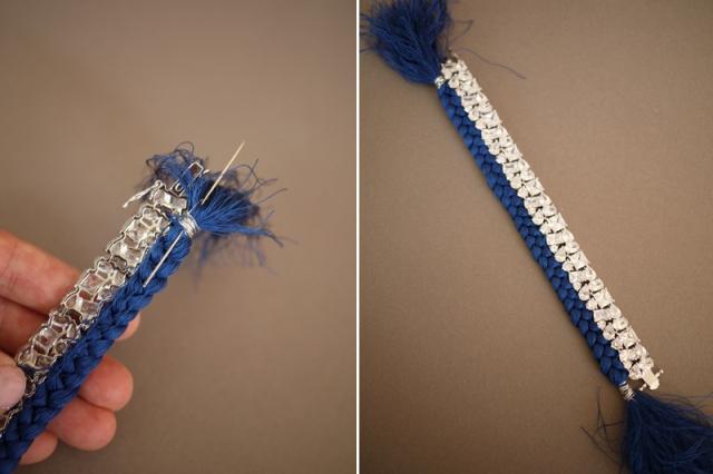 Picture Of Bright DIY Braided Rhinestone Bracelet 9