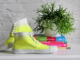 Bright DIY Dyed Neon Sneakers
