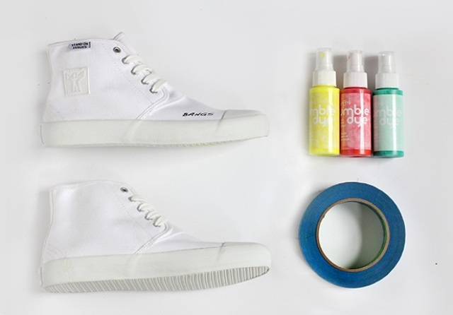 Picture Of Bright DIY Dyed Neon Sneakers 2