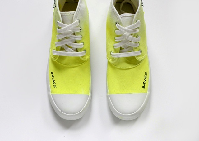 Picture Of Bright DIY Dyed Neon Sneakers 6