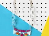 Bright DIY Gem Necklace