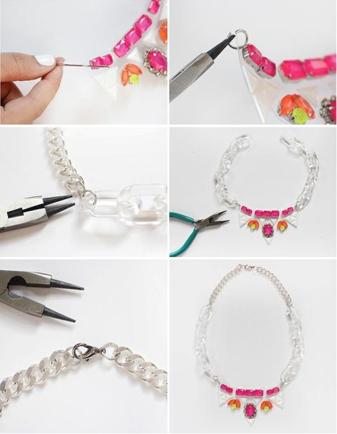 Crazy And Bold DIY Gem Necklace