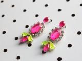 Bright DIY Neon Gem Earrings2