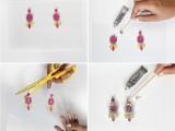 Bright DIY Neon Gem Earrings4