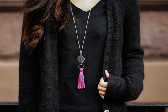 Bright DIY Oversized Tassel Necklace