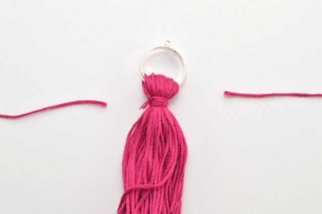 Picture Of Bright DIY Oversized Tassel Necklace 7