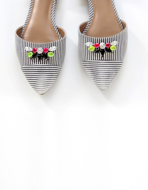 Bright DIY Striped Gem Shoes Makeover