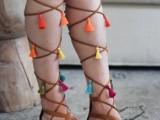 Charming DIY Tassel Greek Sandals