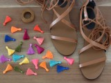 Charming DIY Tassel Greek Sandals2