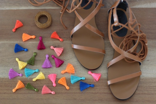 Picture Of Charming DIY Tassel Greek Sandals 2