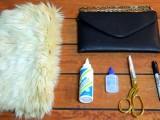 Chic DIY Faux Fur Clutch2
