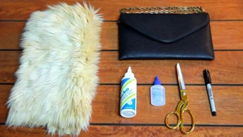 Chic DIY Faux Fur Clutch