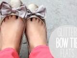 Chic DIY Glitter Bow-Tie Flats