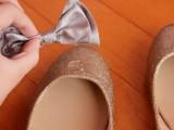 Chic DIY Glitter Bow-Tie Flats9