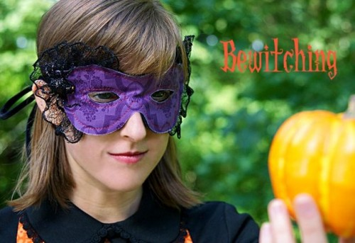 Chic DIY Jeweled Spider Mask For Halloween Party