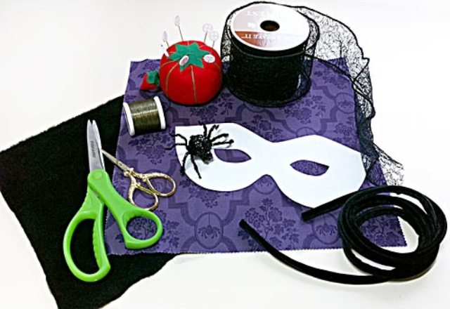 Picture Of Chic DIY Jeweled Spider Mask For Halloween Party 2