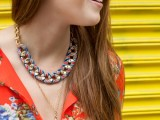 Chic DIY Ribbon Wrapped Chain Necklace4