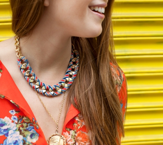 Picture Of Chic DIY Ribbon Wrapped Chain Necklace 4