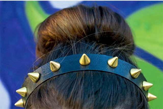 Picture Of Chic DIY Spike Headband 4
