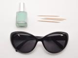 Chic DIY Sunglasses With Nail Polish Dots2