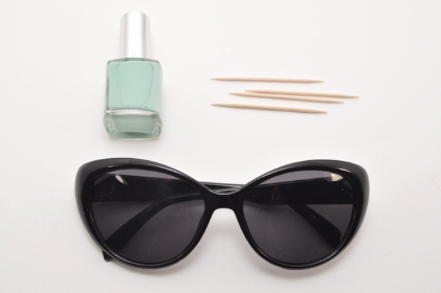 Picture Of Chic DIY Sunglasses With Nail Polish Dots 2