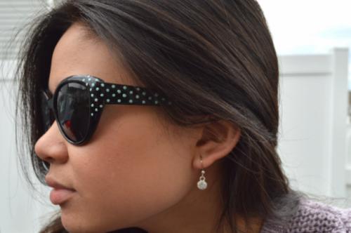 Chic DIY Sunglasses With Nail Polish Dots