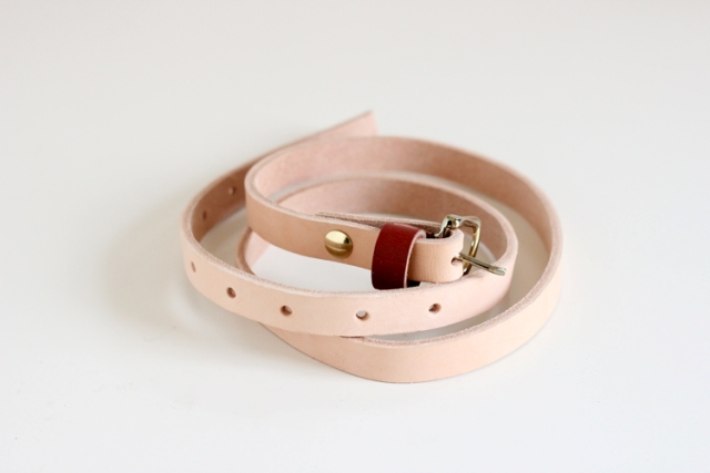 Picture Of Classic DIY Leather Skinny Belt 2