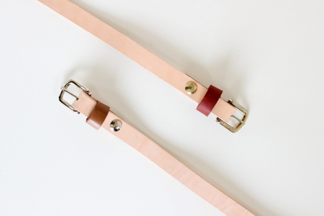 Classic DIY Leather Skinny Belt