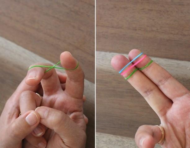 Picture Of Colorful DIY Finger Fishtail Loom Bracelet 3
