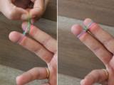 Colorful DIY Finger Fishtail Loom Bracelet4