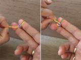 Colorful DIY Finger Fishtail Loom Bracelet5