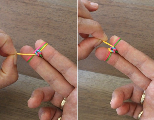 Picture Of Colorful DIY Finger Fishtail Loom Bracelet 5