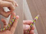 Colorful DIY Finger Fishtail Loom Bracelet6
