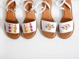 Colorful DIY Neon Gem Sandals2