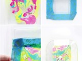 Colorful DIY Neon Marbled Jewelry Tray4