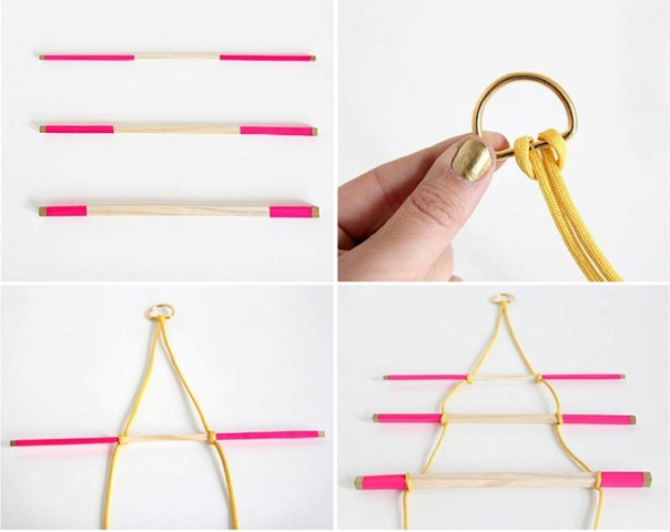 Picture Of Comfortable DIY Hanging Jewelry Holder 4