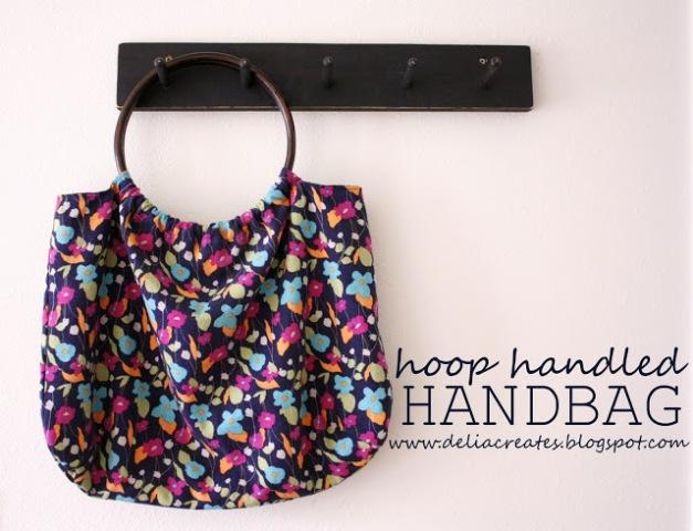 Comfortable DIY Hoop Handled Handbag