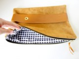 Comfortable DIY Leather Strap Clutch2