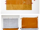 Comfortable DIY Leather Strap Clutch6
