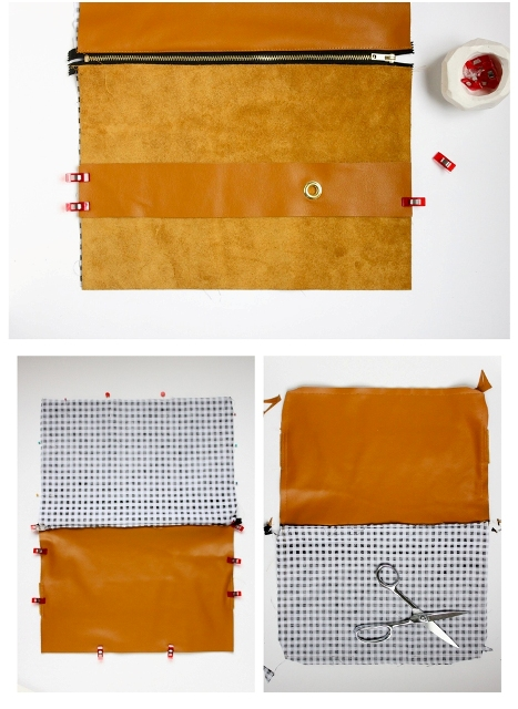Picture Of Comfortable DIY Leather Strap Clutch 6