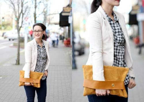 Original And Bright DIY Leather Strap Clutch
