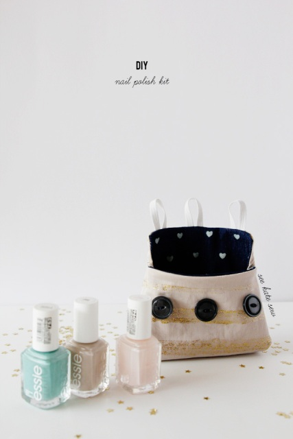 Comfortable DIY Nail Polish Bag