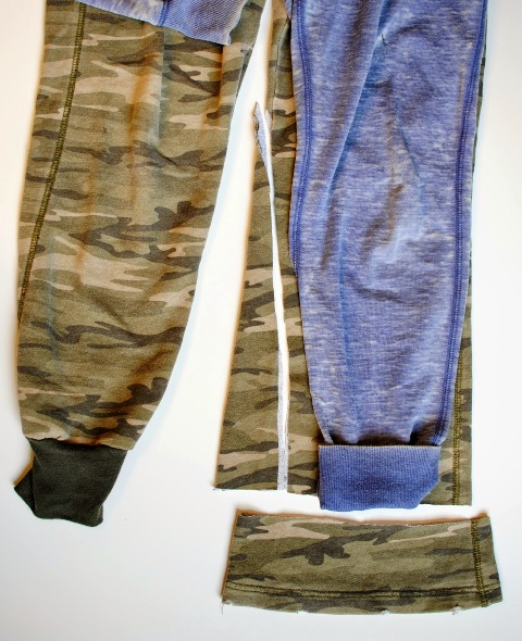 Comfortable DIY Refashioned Track Pants