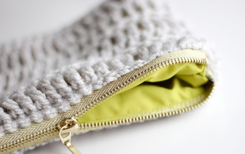 Comfortable DIY Treble Crochet Zip Pouch