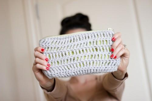 Comfortable DIY Treble Crochet Zip Pouch