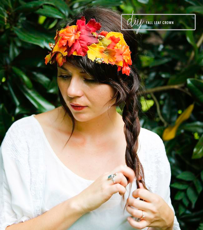 Picture Of Cool Autumn Idea of DIY Fall Leaf Crown 1