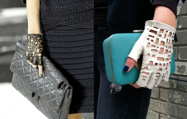 Cool DIY Chanel Inspired Cut Out Gloves